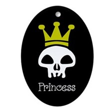 Skull Princess Oval Ornament