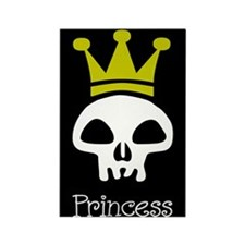 Skull Princess Rectangle Magnet