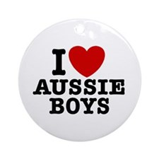 I Love Aussie Boys Ornament (Round)