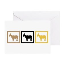 Goat Squares Greeting Card