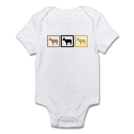 Goat Squares Infant Bodysuit