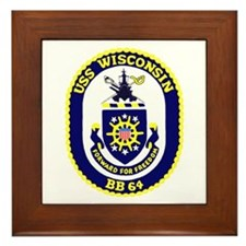USS Wisconsin (BB 64) Framed Tile