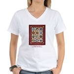 Love that Pound Puppy Quilt Women's V-Neck T-Shirt