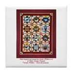 Love that Pound Puppy Quilt Tile Coaster