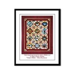 Love that Pound Puppy Quilt Framed Panel Print