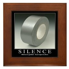 Motivational - Silence Framed Tile