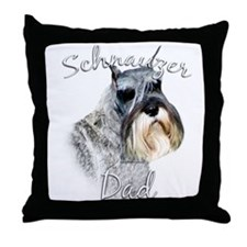 Std. Schnauzer Dad2 Throw Pillow