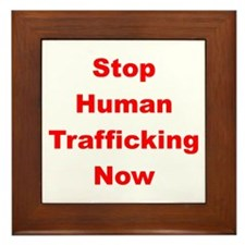 Stop Human Trafficking Now Framed Tile