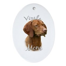 Vizsla Mom2 Oval Ornament