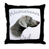 Weimaraner Dad2 Throw Pillow