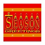 Season Greetings Tristar Ribb Tile Coaster