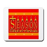 Season Greetings Tristar Ribb Mousepad