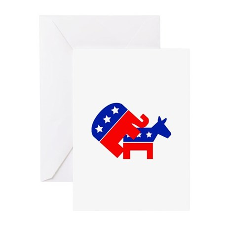 Fuck Democrats Greeting Cards (Pk of 10)