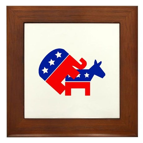 Fuck Democrats Framed Tile
