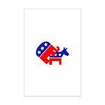 Fuck Democrats Mini Poster Print