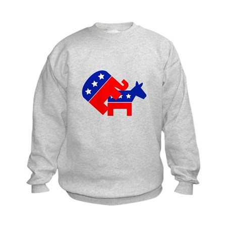 Fuck Democrats Kids Sweatshirt