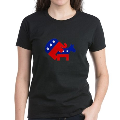 Fuck Democrats Women's Dark T-Shirt