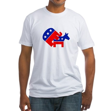 Fuck Democrats Fitted T-Shirt