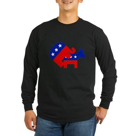 Fuck Democrats Long Sleeve Dark T-Shirt