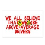 Above-Average Drivers Postcards (Package of 8)