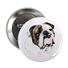 "Bulldog Dog 2.25"" Button (100 pack)"