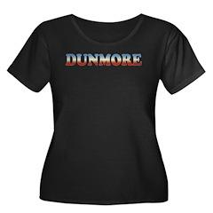 DUNMORE FADE Women's Plus Size Scoop Neck Dark T-S
