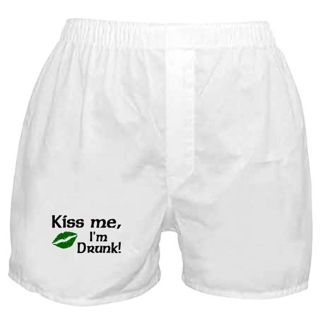 Kiss Me I'm Drunk Boxer Shorts