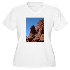 SALE Sedona Red Rock Women's +Size V-Neck T-Shirt