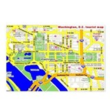 Washington, D.C. tourist map Postcards (Package o