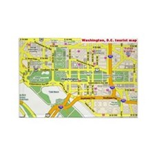 Washington, D.C. tourist map Rectangle Magnet
