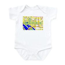 Washington, D.C. tourist map Infant Bodysuit