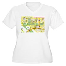 Washington, D.C. tourist map T-Shirt