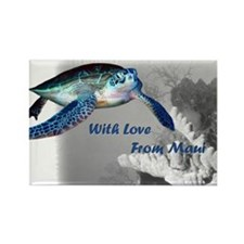 With Love From Maui Rectangle Magnet (100 pack)