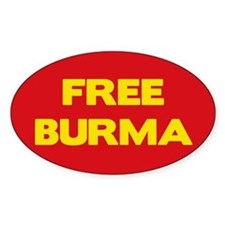 Free Burma Oval Decal