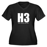 H3 Women's Plus Size V-Neck Dark T-Shirt