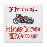 Biker Baby Cry - DAD Tile Coaster