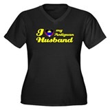 I love my Antiguan Husband Women's Plus Size V-Nec