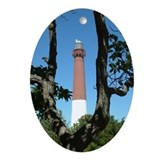 Barnegat Lighthouse Oval Ornament