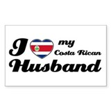 I love my Costa Rican Husband Sticker (Rectangular