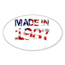 Made In USA 1987 Oval Decal