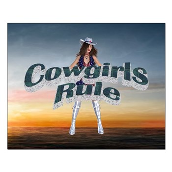 Cowgirls Rule Poster