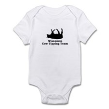 Wisconsin Cow Tipping Infant Bodysuit