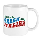 Proud Greek and Italian Small Mug