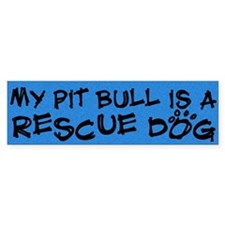 Rescue Dog Pit Bull Bumper Bumper Sticker