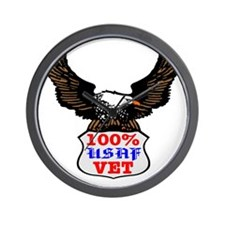 100% USAF Vet Eagle Wall Clock