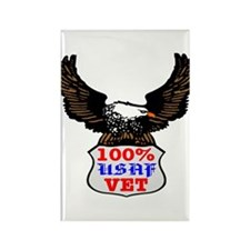 100% USAF Vet Eagle Rectangle Magnet
