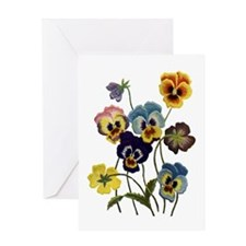 PARADE OF PANSIES Greeting Card