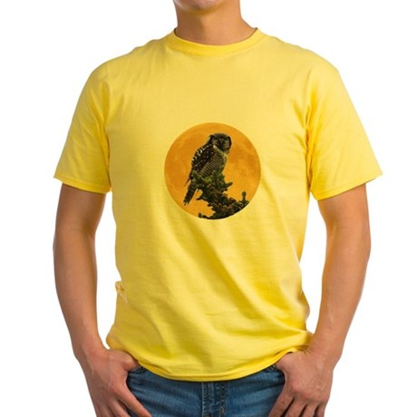 Owl and Moon Yellow T-Shirt