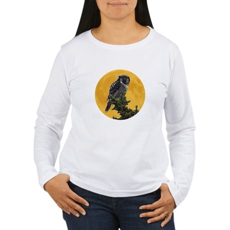Owl and Moon Women's Long Sleeve T-Shirt