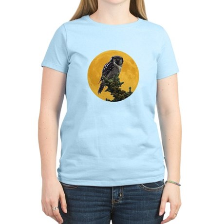 Owl and Moon Women's Light T-Shirt